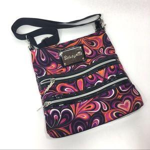 Betseyville Bag Purse Pink Black Purple Crossbody